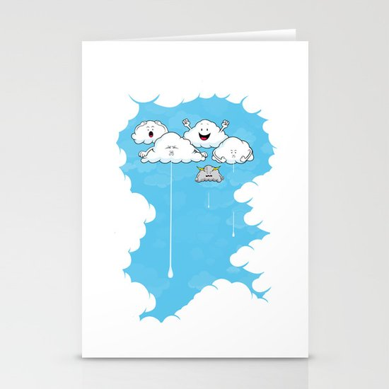 Young Clouds fooling around Stationery Cards