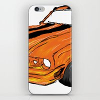 mustang iPhone & iPod Skins featuring Mustang by Portugal Design Lab