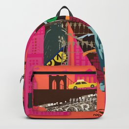 Mews in NewYork (Typography) Backpack