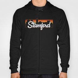 Vintage Stamford Connecticut Sunset Skyline T-Shirt Hoody