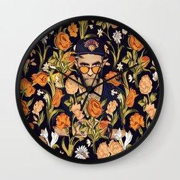 Floral New York fan Wall Clock