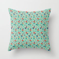 blossom ditsy in grayed jade Throw Pillow