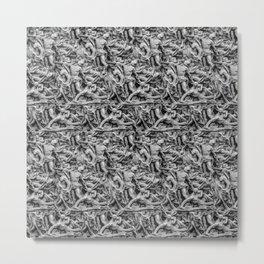 Sculpture Collage Pattern Metal Print