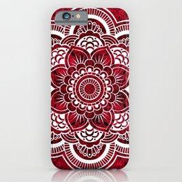 Mandala Red Colorburst #authentic iPhone Case
