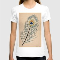 peacock feather T-shirts featuring PEACOCK FEATHER by Joelle Poulos