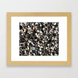 Letter Buttons Framed Art Print