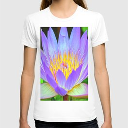 Blue-Purple Water Lilly Flower T-shirt