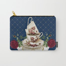 Vintage Rose Tea Cups Carry-All Pouch