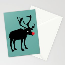 Angry Animals: Rudolph the red nosed Reindeer Stationery Cards