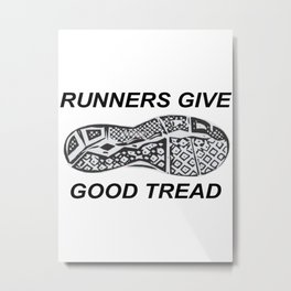 Runners Give Metal Print