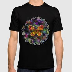abstract butterfly Black Mens Fitted Tee MEDIUM
