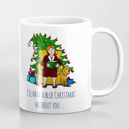 A Blue Christmas Coffee Mug