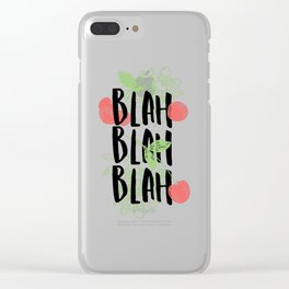 Blah Blah Blah Tomatoes Clear iPhone Case