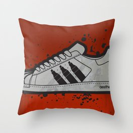 Aesthetix 3 Pens Superstar (Safety Orange) Throw Pillow