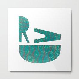 Rad - Green Metal Print