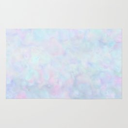 Rainbow Unicorn Pastel Fluffiness Rug