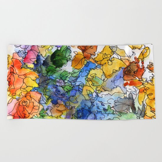 Colored fantasy Beach Towel