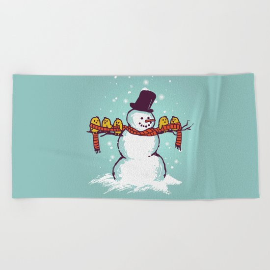 Sharing is caring (Winter edition) Beach Towel