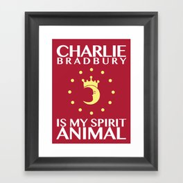 Charlie Bradbury is my spirit animal Framed Art Print