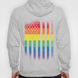 LGBTQ Pride Rainbow American Flag product for the parade print Hoody