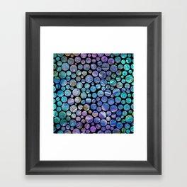 Marble Effect Dots 2 Framed Art Print