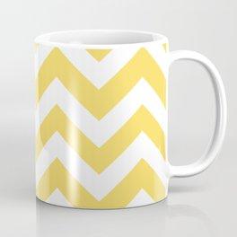 Stil de grain yellow - yellow color - Zigzag Chevron Pattern Coffee Mug