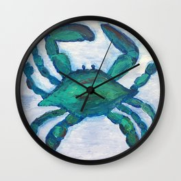 Getting Crabby Wall Clock