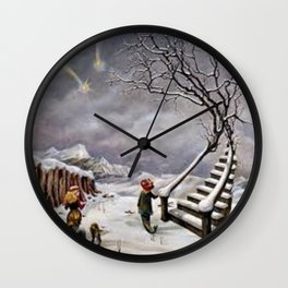 The Truth About Comets by Dorothea Tanning Wall Clock