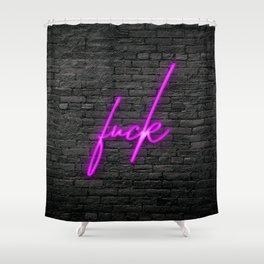 Neon Fuckery Shower Curtain