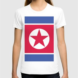 North Korea flag emblem T-shirt