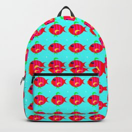 Gold fish pattern Backpack