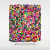 rush Shower Curtains featuring City Rush by Georgiana Paraschiv