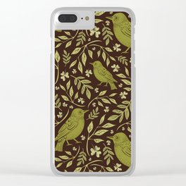 Little Wrens Hiding In The Hedgerow Clear iPhone Case