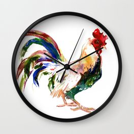 Rooster, Rooster art, Country style design Wall Clock