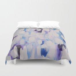 Blue rain of hope Duvet Cover