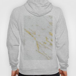 Luxury white marble gold accent Hoody