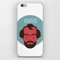 stanley kubrick iPhone & iPod Skins featuring STANLEY KUBRICK by Gerardo Lisanti