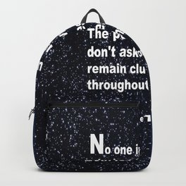 Neil deGrasse Tyson's quote Backpack