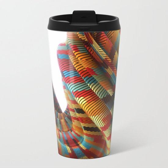 Twisted Lines Metal Travel Mug