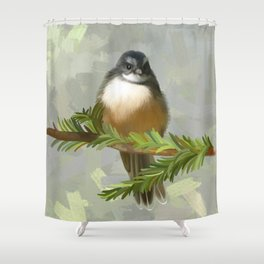 Fantail chick Shower Curtain