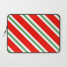 Candy Cane Stripes Holiday Pattern Laptop Sleeve