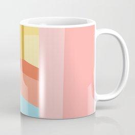 Abstract Geometry Steps in Beachy Pastels Coffee Mug