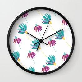 Raining daisies Wall Clock
