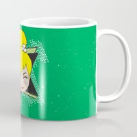 tinker bell Mugs featuring I Am Smart - Tinker Bell by AmadeuxArt