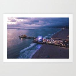 Santa Monica Pier 01 Art Print
