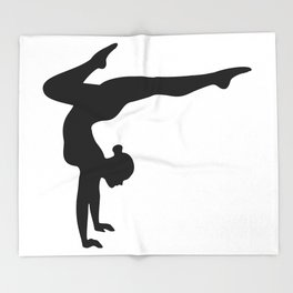 B&W Contortionist Throw Blanket