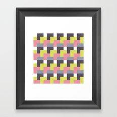 squared city Framed Art Print