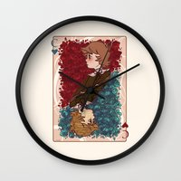 chihiro Wall Clocks featuring The Chihiro of Hearts by Dampho