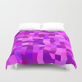 Pink purple tiles Duvet Cover