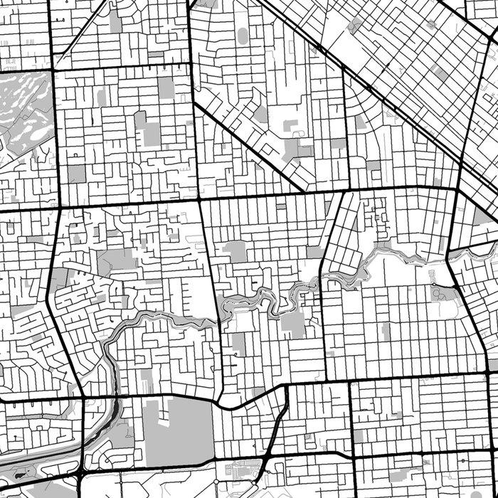 Adelaide Map Blue Vintage Leggings